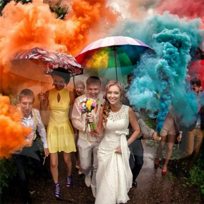 Color Smoke 1 Minute Duration Pack of 5 Blue Orange Yellow Green White 0