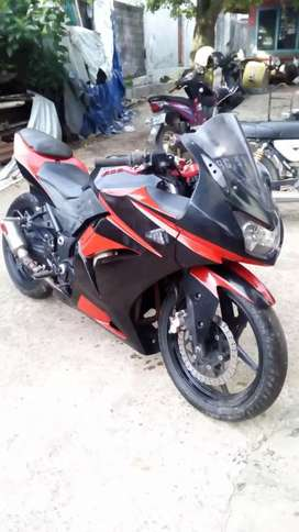ninja 250r yahun 2010 surat lengkap knalpot gp tech cat sudah di ganti