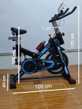 Spinning bike hitam blue