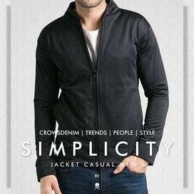 Jaket Simply Fleece Black Style - SK70