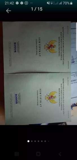 Dijual Tanah Pinggir Jalan Bogor lt 915 shm Strategis PUTAT