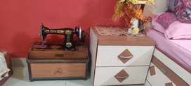 Usha Sewing Machine with free Cover and Wooden Box