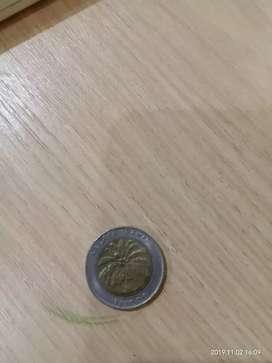 Uang koin 1000 rupiah tahun 1996