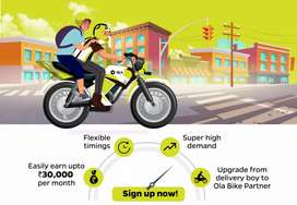 Ola bike taxi free attachment with joining bonus partime or full time