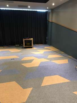 lantai karpet import kantor office meeting room virtual tile carpet