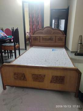 Bed Size of 4 by 6 with Box on Head for storage along with Mattress