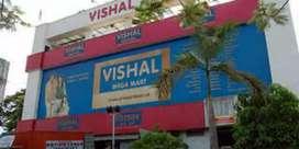 Hiring in vishal mega mart for freshers candidates
