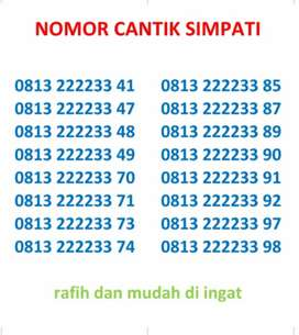 NOMOR CANTIK SIMPATI RAFIH 2222233