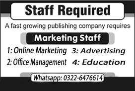 Part-Time and Full-time urgent staff required (males and females)