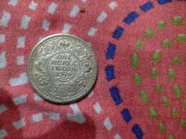 1rupee old coin 1916