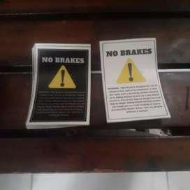 STIKER NO BRAKES