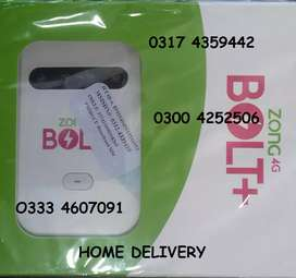 Zong 4G BOLT + JAZZ SUPER 4G fast internet device PTA APPROVED