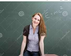female(chemistry 11 & 12) home tutor/teacher