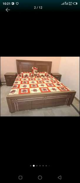 Double bed and single bed wooden