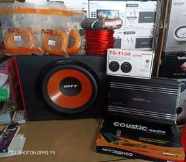 Plus pemasangan, Power Coustic+Subwofer MRZ+Tweeter Ts+Box Mdf+Kabel""