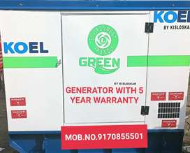 GENERATOR WITH 5 YEAR WARRANTY N FREE DELIVERY N INSTALLATION, TESTING