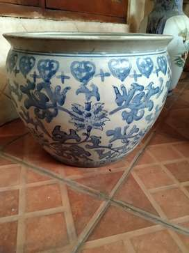 Guci antik blue chinaware
