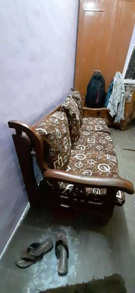 Old wood sofa