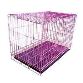 Kandang lipat portable anjing kucing ukuran small 60 x 40 x 50 cm