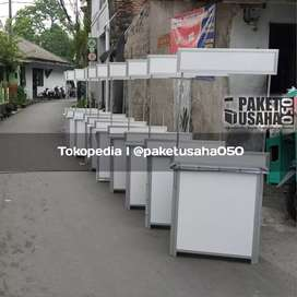 Booth portable mei lipat gerobak box container stand promosi etalase