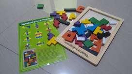 Tetris Wood Intelligence tangram kayu
