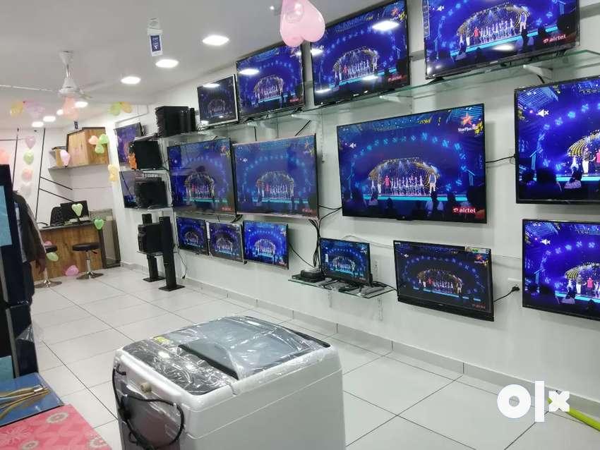 સરળ હપ્તે New Smart TV UHD 4k લાઈફ ટાઈમ service વોરંટી સાથે 0