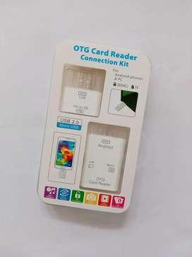 OTG USB card reader 2in1