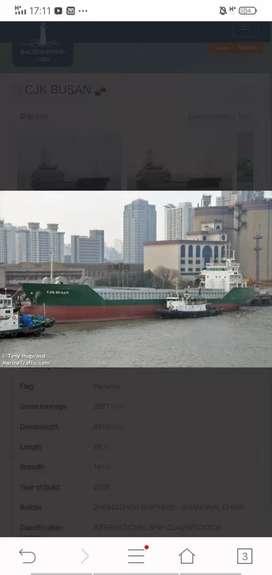 For sele kapal kargo thn 2009 jepen korea  Dwt 450 hub bpk ozy via wa