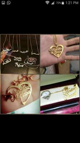 Gold plated. Chandi  plated names pandeT