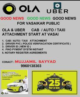 OLA & UBER CAB AND AUTO ATTACHMENT