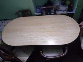 Six seater dining table.