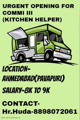 URGENT OPENING FOR KITCHEN HELPER