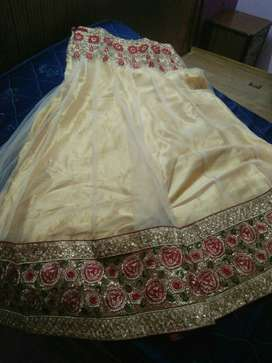 Red Beige lehenga. In Great condition.
