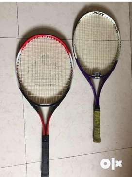 One cosco and one jonex tennis rackets in very good condition