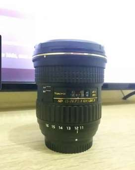 Lensa tokina 11-16mm dx II for nikon
