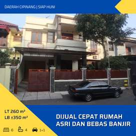 Dijual Cepat Rumah Asri dan Bebas Banjir di Cipinang, Jakarta Timur