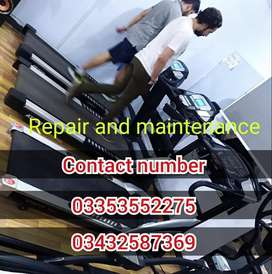 Treadmill Repair & Maintenance  services all over Pakistan