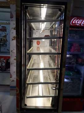 Verticle refrigerated counter.