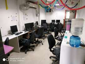 Fully furnished office 1 cabin, 15 seats for Rent in sector 4 Noida.