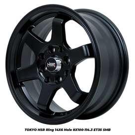 VELG HSR ORIGINAL TOKYO R14X6 PCD4X100/114 BLACK READY DIVETERAN
