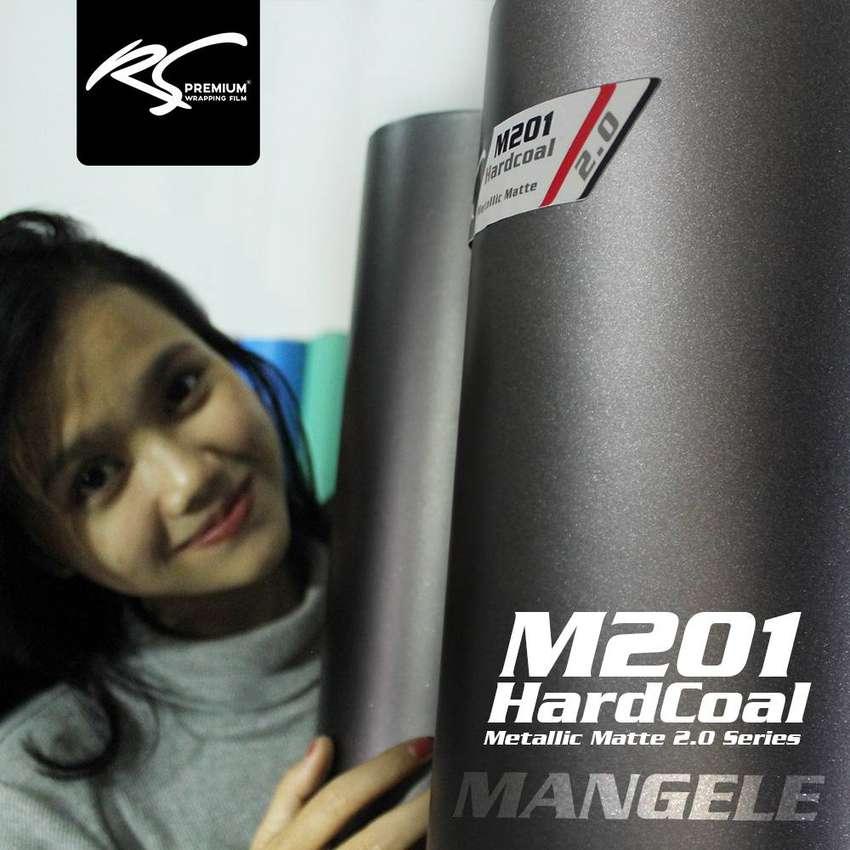 Stiker Mobil Bandung Wrapping Abu doff M201 hardcoal metalik matte 0