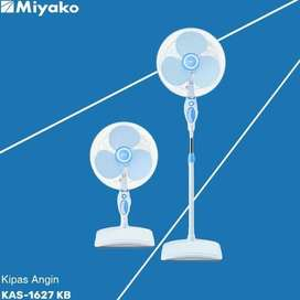 Miyako Stand Fan / Kipas Angin Berdiri 16inch 2in1 Desk fan KAS-1627KB