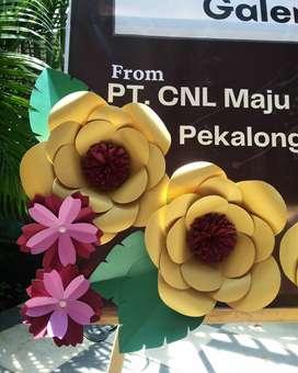 Karangan bunga kertas paper flower peresmian ulang tahun duka murah