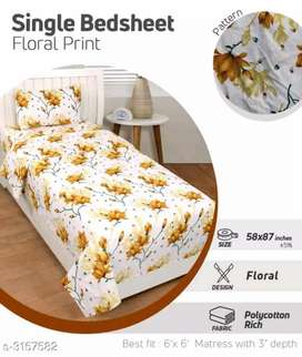 Poly cotton single bedsheets