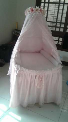 New born cot for baby girl
