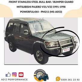 Front Stainless Bull Bar Bumper Guard PM211 MS-A053 Mitsubishi Pajero