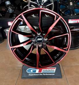 Velg blad Machin face red ring 17x7.5 h8x100/114.3 et40 Avanza Mobilio
