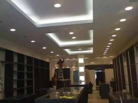 GYPSUM BOARD FALSE CEILING WORK IN TRIVANDRUM