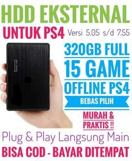 HDD 320GB Bonus 15 Game PS4 Mrh Harganya Mantap Bebas Pilih
