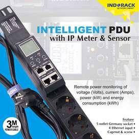 IP PDU 5 SOCKET WITH IP METER & SENSOR